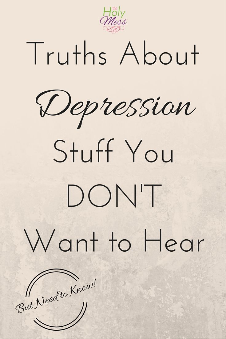 After dealing with depression myself and seeing loved ones go through it, these are real, honest truths about depression that must be said. These words may not be popular and may cost me followers, but this is speaking my truth.