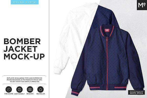 Bomber Jacket Mock-up by mesmeriseme.pro on @creativemarket
