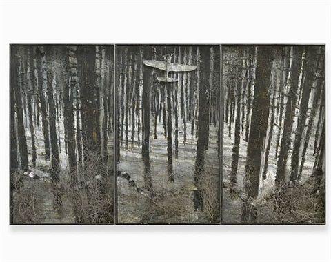 Aus dunklen Fichten flog ins blau der Aar by Anselm Kiefer