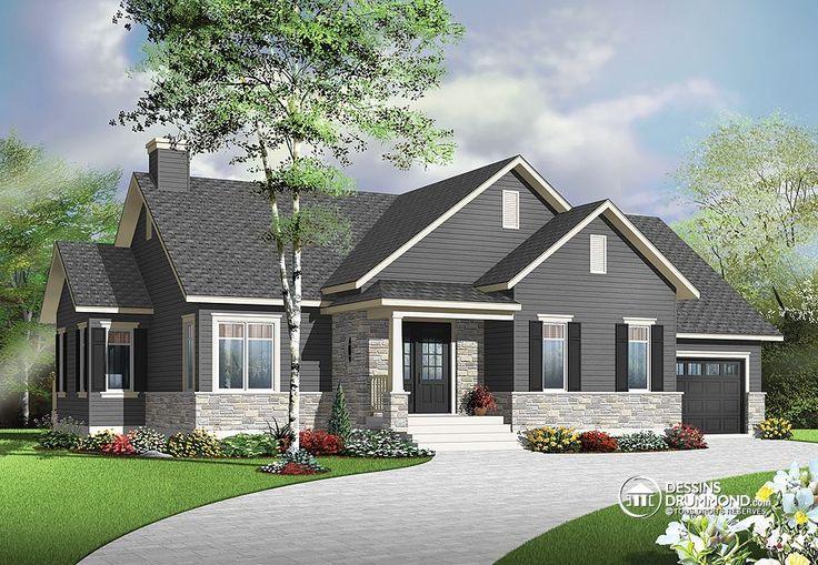 plan de maison unifamiliale w3133 v1 garage de beau. Black Bedroom Furniture Sets. Home Design Ideas