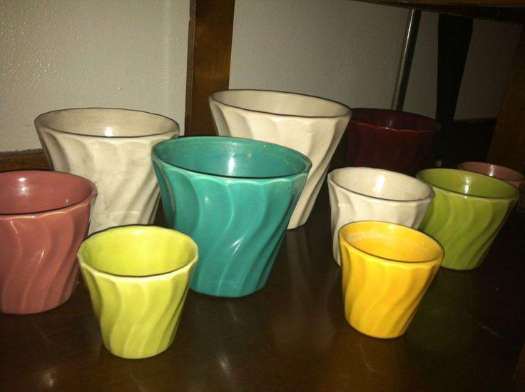 Vintage Bauer pottery Swirl pattern