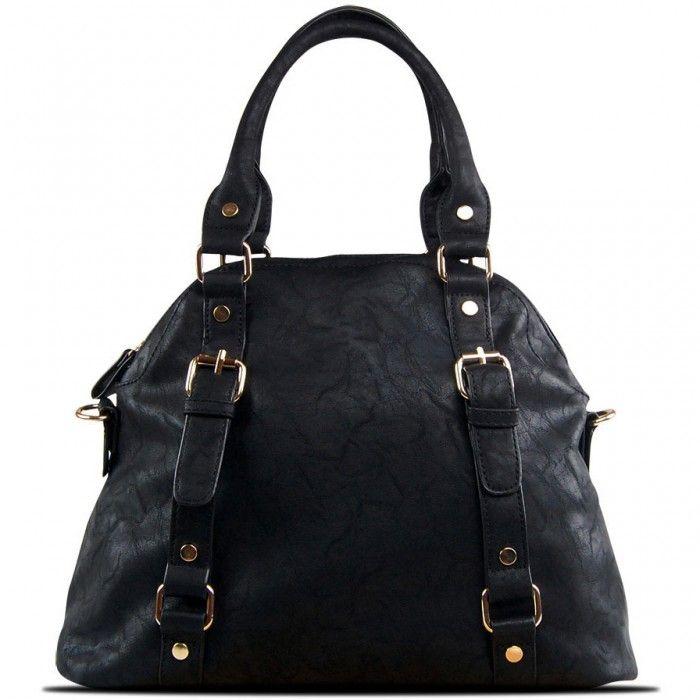 Susan Nichole Vegan Handbag Blossom in Black
