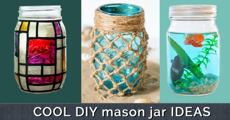 Cute DIY Mason Jar Ideas -- Fun Crafts, Creative Room Decor, Homemade Gifts, Creative Home Decor Projects and DIY Mason Jar Lights - Cool Crafts for Teens and Tween Girls http://diyprojectsforteens.com/cute-diy-mason-jar-crafts