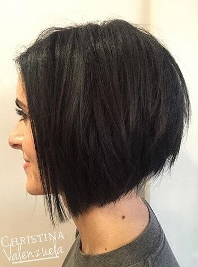 Side Profile Of A Brunette Woman With A Textured A Line
