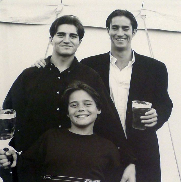 Pippa's brother-in-laws: The late Michael Middleton (left), James (right), and Spencer Matthews (front)