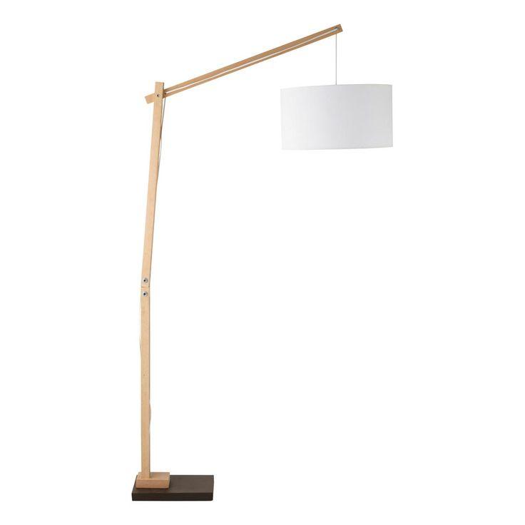 Taiga houten staande lamp