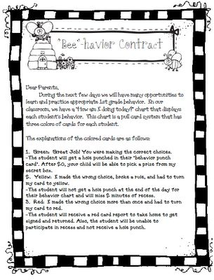 30 Best Behavior Contracts Images On Pinterest | Behavior Contract