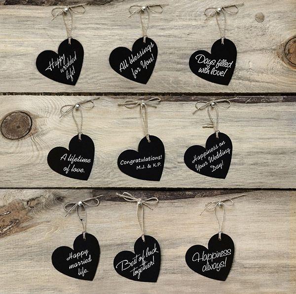 Coeurs Ardoise Ficelle Porte Nom Vintage Noir