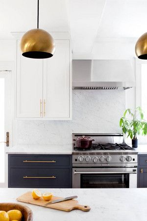 Brass, marble, and other current-day classics in a remodeled kitchen. Kitchen Decor: Ideas and Inspiration | Domino