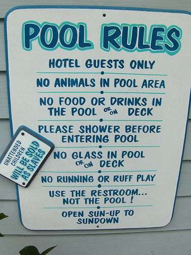 17 Best Images About Swimming Pool Rules Signages On Pinterest Safety Gates Signs And Pools