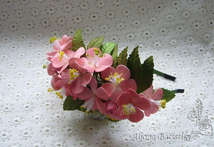 МК по изготовлению цветков яблони, вишни или абрикоса из фоамирана без м...