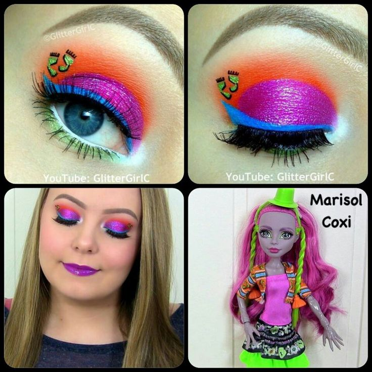 Monster high~Marisol Coxi eye makeup Made by:glittergirlc