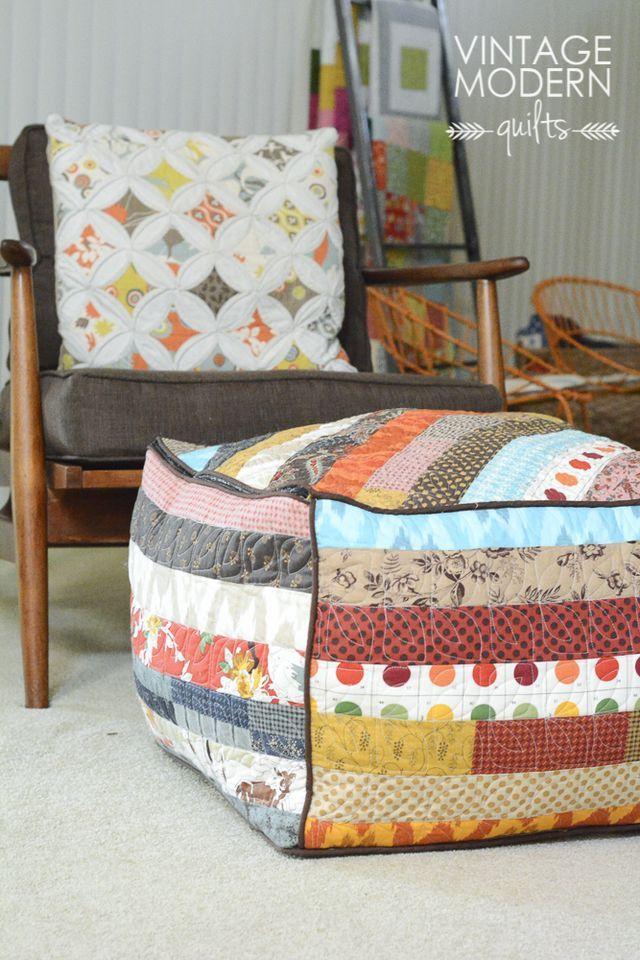 Boho Ottoman | Vintage Modern Quilts | Bloglovin'                                                                                                                                                                                 More