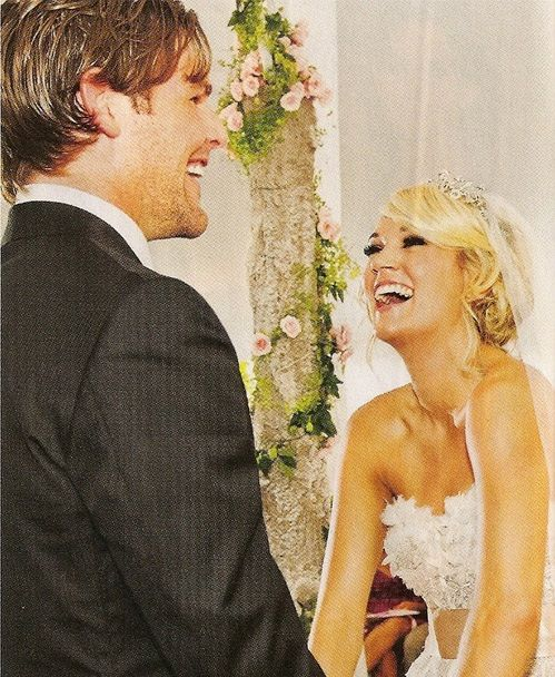 Carrie Underwood & Mike Fisher #Wedding #Couple #CelebrityCouple