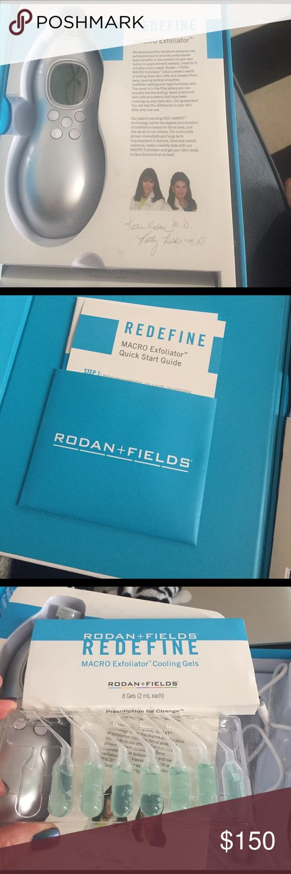 Rodan and fields macro exfoliator Only used one time has everything still boxed up only one cooling gel missing and comes with 4 sealed tips rodan and fields Makeup