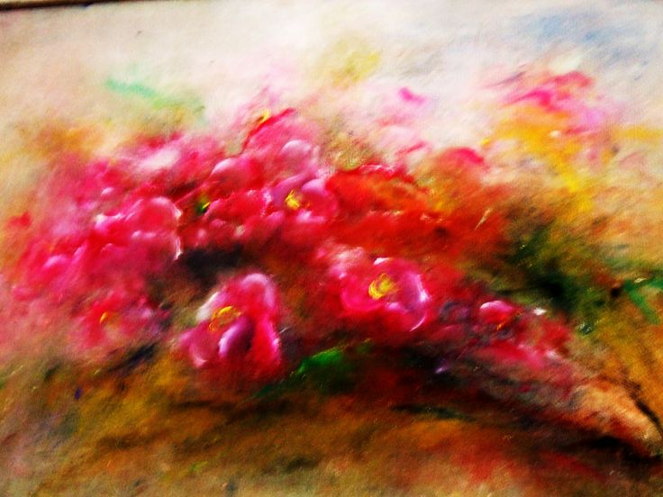 oil painting on canvas (60/50) -to sale abstract floral painting