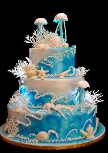 jellyfish wedding cake - Google Search