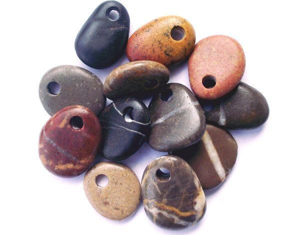 Mediterranean beach rock jewelry beads. Spanish by oceangifts