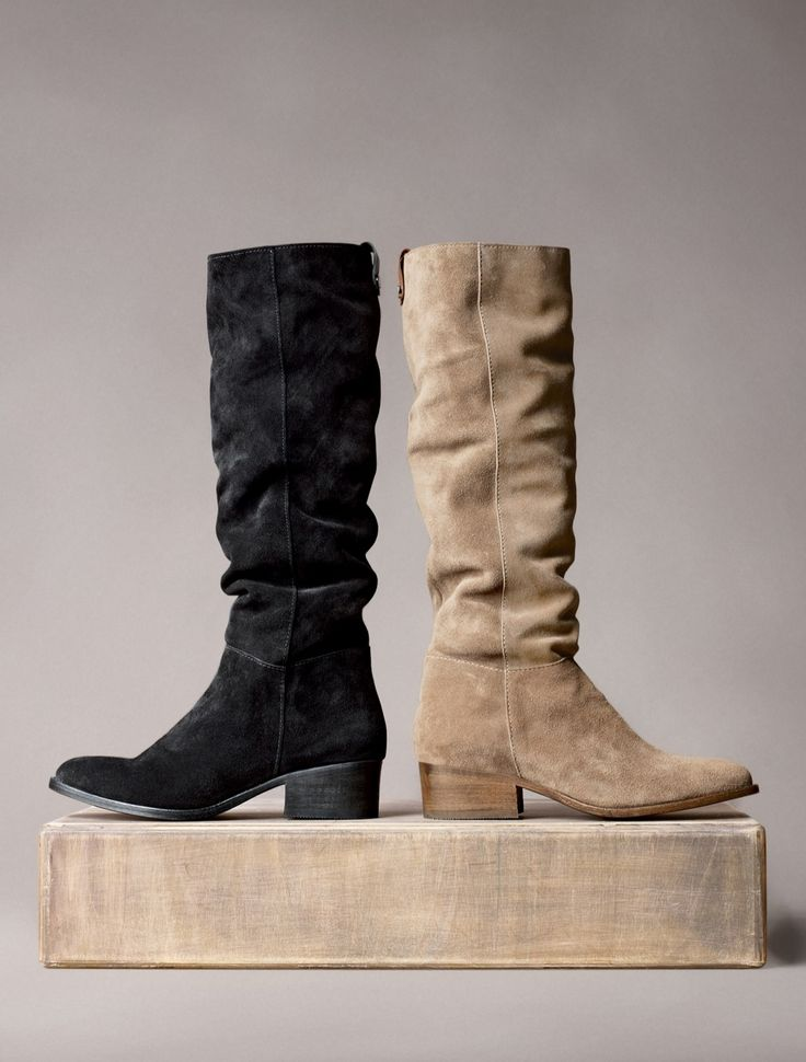 Suede boots for fall.