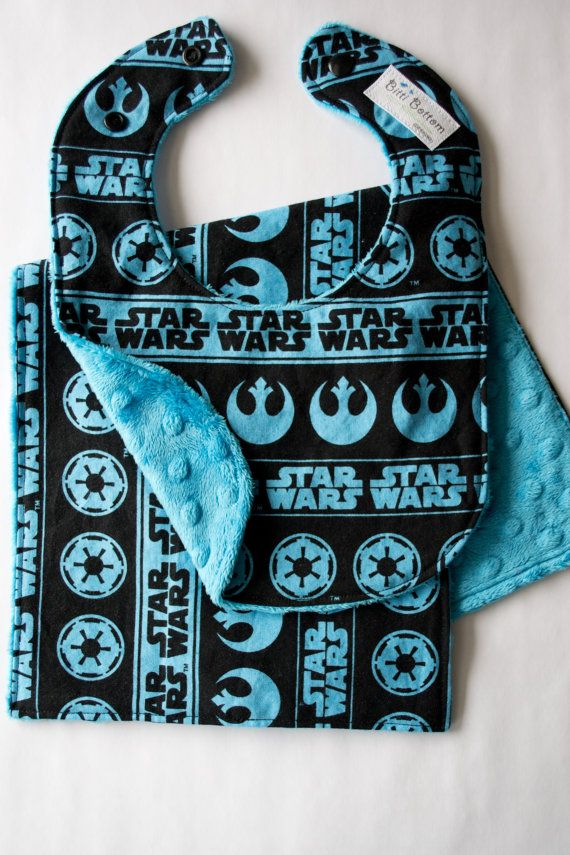 Hey, I found this really awesome Etsy listing at https://www.etsy.com/listing/164946919/blue-star-wars-baby-bib-burp-cloth-set