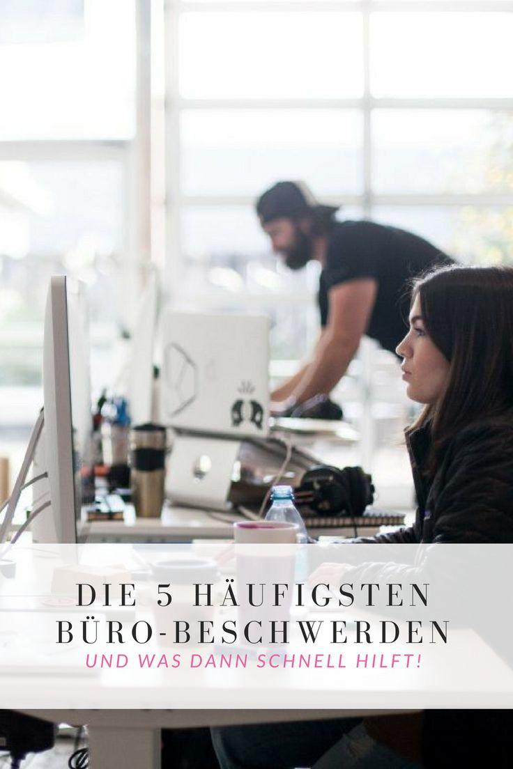 Die 5 häufigsten Büro-Beschwerden: müde Augen, Spannungs-Kopfschmerz, Nackenverspannung, schwere Beine, Rückenschmerzen – und was dann schnell hilft!