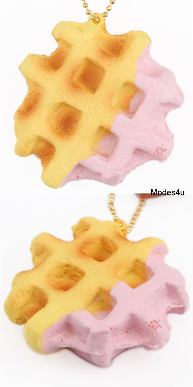 Squishies for sale - Cafe De N Cute Waffle With Pink Sauce Squishy Kawaii Food Squishies Squishies