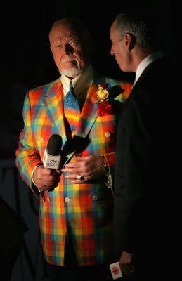 NHL commentator, Don Cherry | It's not Hockey Night in Canada unless Don Cherry is wearing one of his outlandish suits. Love you, Don!