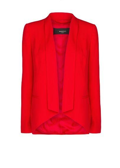 MANGO - Asymmetric hems crepé jacket