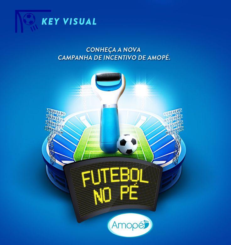 Campanha de incentivo de vendas para Reckitt Benckiser - Amopé. Com o tema futebol.