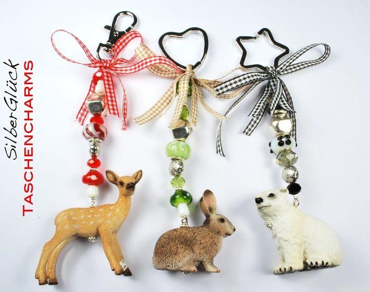 Taschenanhänger ♥ HASE ♥  Tasche  Anhänger von SilberGlück auf DaWanda.com