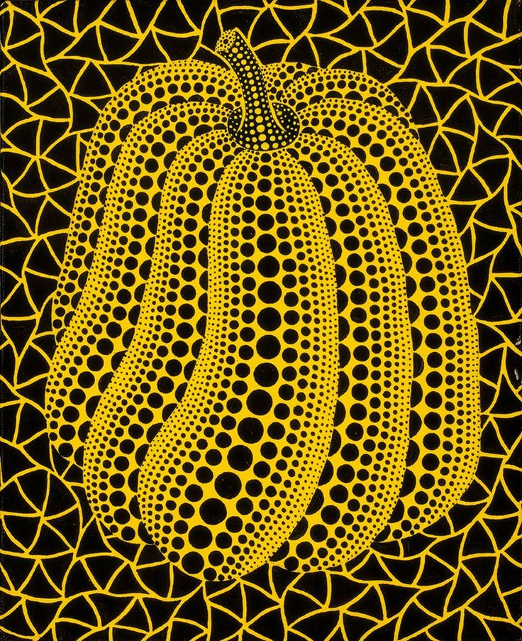Yayoi Kusama (Japan, b. 1929), Pumpkin (HOZ). Acrylic on canvas. 27.3 x 22 cm (10¾ x 8⅝ in). Estimate HK$300,000-400,000. This work is offered inAsian Contemporary Art (Day Sale) on 29 May at Christie's in Hong Kong