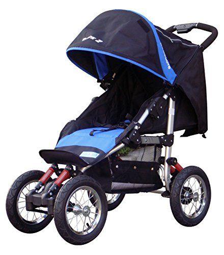 BEBELOVE Deluxe Jogging Stroller, Blue