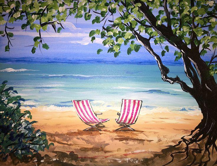 Hawaiian Beach Bliss Paint Nite Tuesday July 12 At 7pm Https Www
