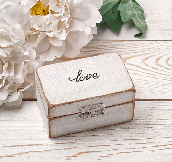 Ring Bearer Box Wedding Ring Box Personalized HandmadeDecoupage