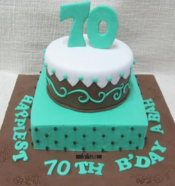 70th Birthday Cake Designs