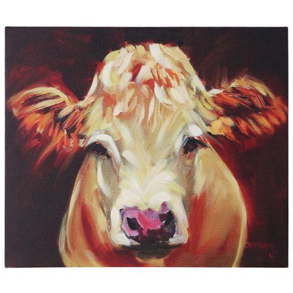 Cow Wall Canvas Art