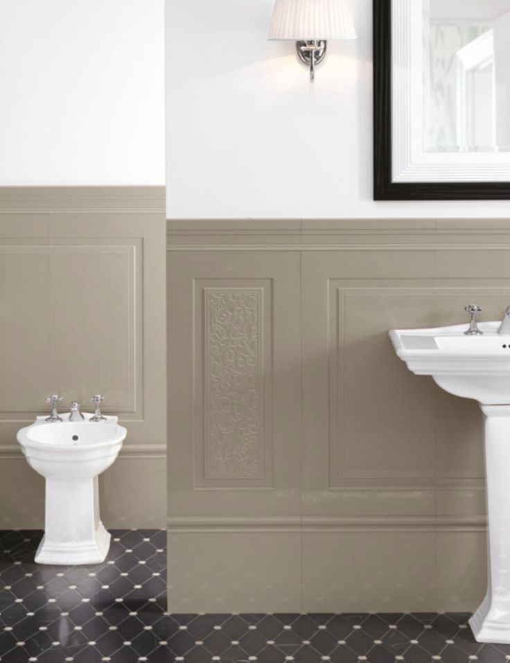 I Love This Large Tile Wainscot. It Also Comes In White Or Dark Gray.  Vintage BadezimmerWandverkleidungHaupt Bad