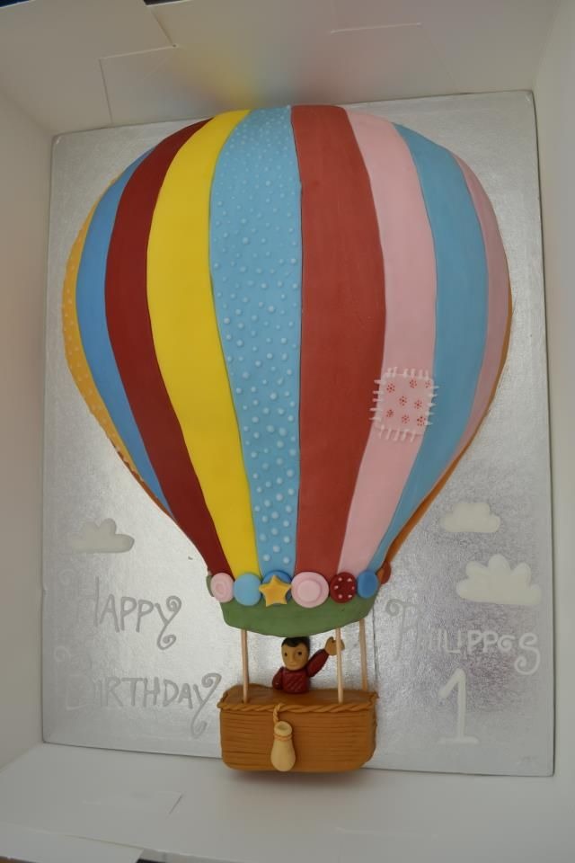 Belle  Boo inspired Hot Air Balloon Cake