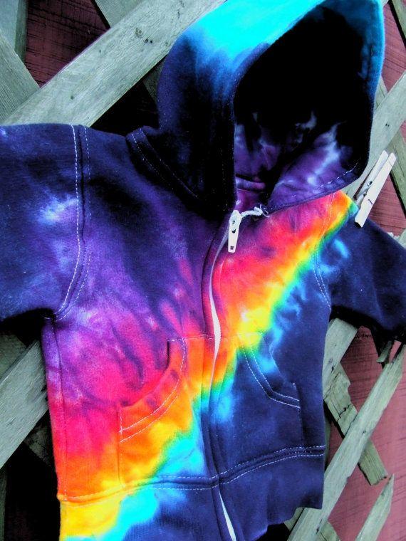 tie dyed kids' hoodie