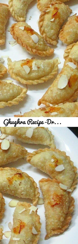 Ghughra Recipe -Dry Fruits & Sooji Ghughra Recipe -Diwali Special Snack - Gujiya/Rawa Karanji Recipe... Tags: Ghughra, Gujarati Ghughra, Gujarati farsan, Rawa karanji, Sooji Ghughra, Gujiya Recipe, dry fruits Ghughra, Diwali Special Snack, Poonam, panchal, kitchen, Tarla Dalal, nisha madhulika, kabita, manjula, sanjeev kapoor, yummy, delicious, Indian sweet dish, Gujarati dish, Indian spices, food, foodie, Mumbai foodie, mumbaikar, foodgasm, foodporn, foodporn