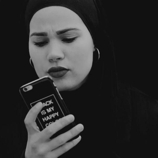 """Skam Sana Bakkoush style. """"Black is my Happy Color"""""""