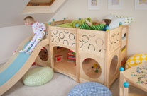 totally ridiculous (and awesome) beds, indoor & outdoor play sets from Cedarworks.  pretty sure they cost a million dollars.