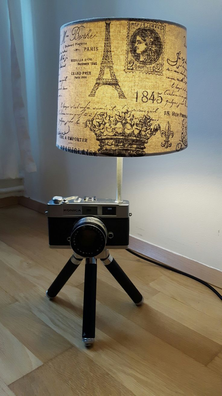 """Freshly """"baked"""" old camera lamp on extendable tripod"""