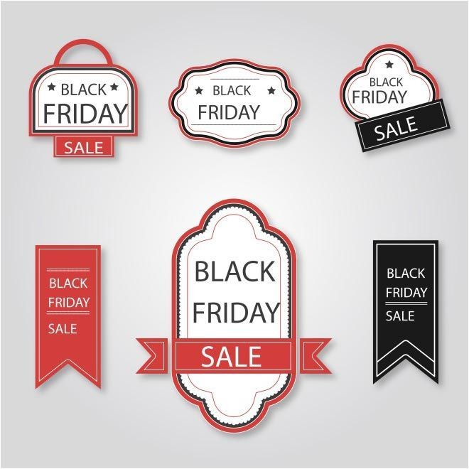Free Vector Black Friday Sale Tags Template Www Cgvector Com