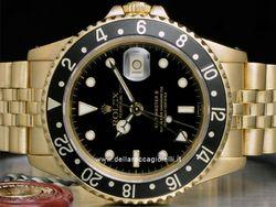 Rolex - GMT-Master II 16718 Cassa: oro giallo - 40 mm Ghiera: oro giallo Vetro: zaffiro Colore quadrante: nero Bracciale: jubilee Chiusura: deployant Movimento: automatico