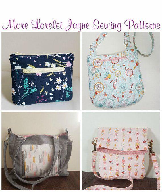 Luna Laptop Bag & Handbag Sewing pattern, PDF sewing pattern, Hobo ...