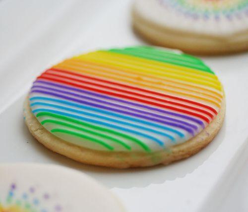 rainbow cookie: Decor Ideas, Pretty Cookies, Cookies Decor, Rainbows Colors, Rainbows Cookies, Decor Cookies, Rainbows Parties, Ice Cookies, Fun Cookies