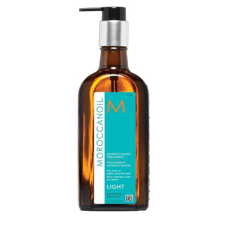 MOROCCANOIL Treatment Light -hoitoöljy 100 ml  Hiustenhoitoöljy joka imeytyy nopeasti eikä jätä tahmaista tuntumaa. Sopii myös ohuelle ja hennolle hiukselle. Pörröiset ja kaksihaaraiset latvasi kiittävät. - Eija