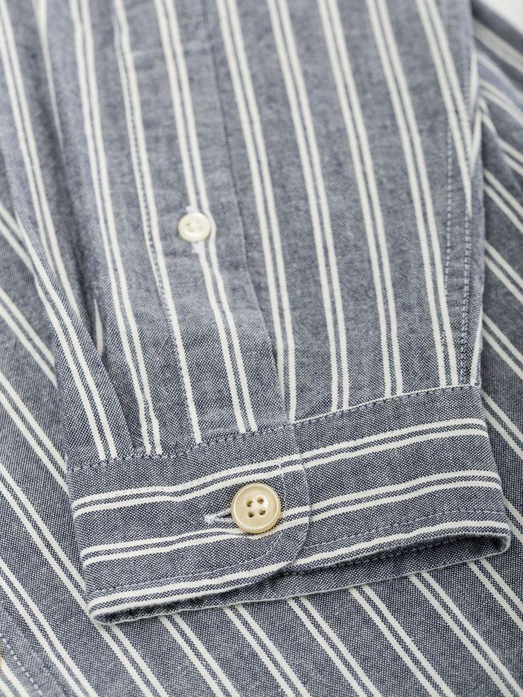Grandad Shirt Coates Navy OSS126 | New In - Shirts - Clothing - Grandad Shirts  - Oliver Spencer