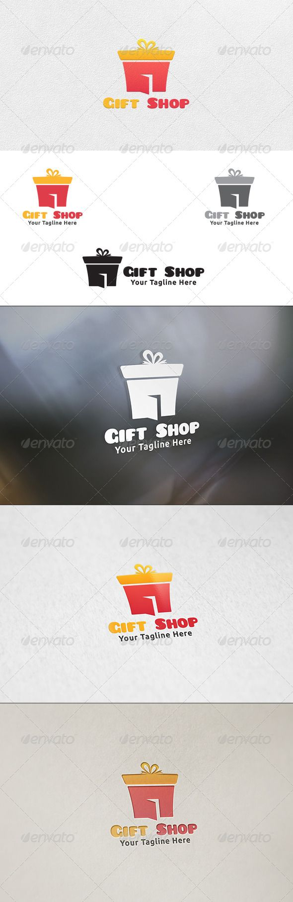 Gift Shop  Logo Design Template Vector #logotype Download it here:  http://graphicriver.net/item/gift-shop-logo-template/6554473?s_rank=1437?ref=nexion